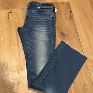 NWT mid rise skinny boot cut jeans